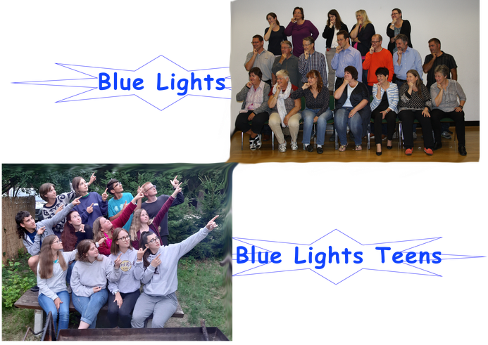 Gruppenbilder der Blue Lights und Blue Lights Teens