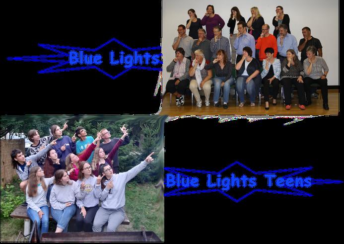 Gruppenbilder der Blue Lights und Blue Lights Teens