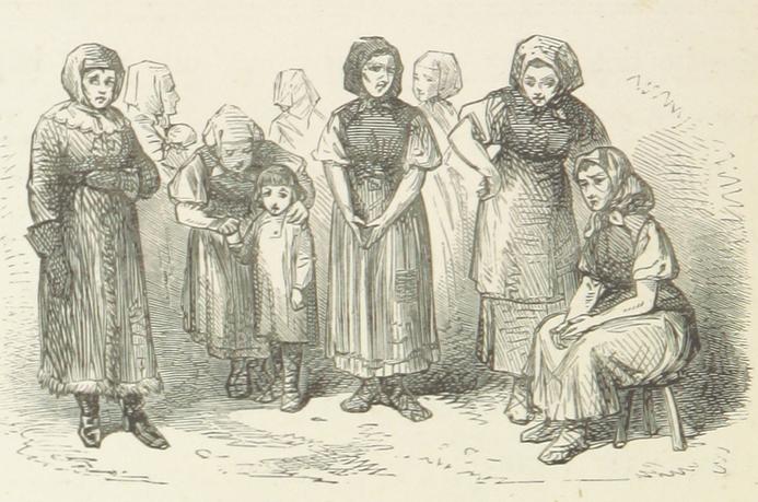 Aberglauben aus Russland - Volksweisheiten - Symbolbild russische Dorffrauen 19. Jahrhundert