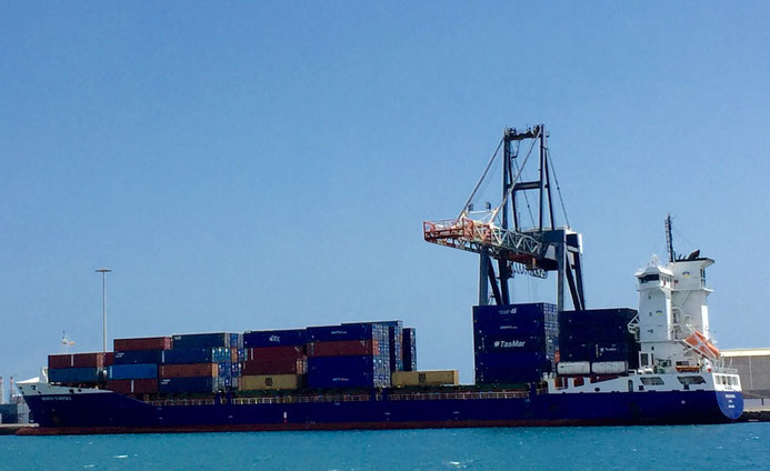 mein Containerschiff der Reederei Heinrich Scheppers
