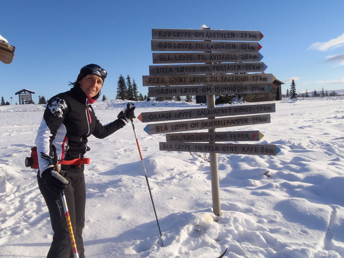 Lors d'un séjour de ski en Norvège!