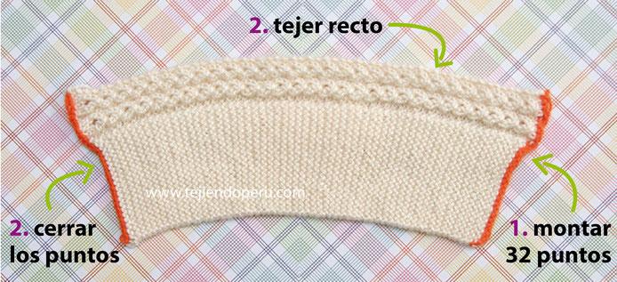 Instrucciones:  El gorrito está tejido desde la parte de la frente hacia la nuca...  Está tejida en punto santa clara y tiene un detalle calado de 6 hileras en hilo.