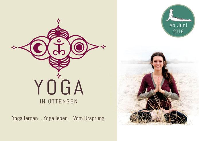Flyer- Yogaflor- Frau im Yogasana am Strand, Hatha Yoga in Altona / Ottensen, im Freien