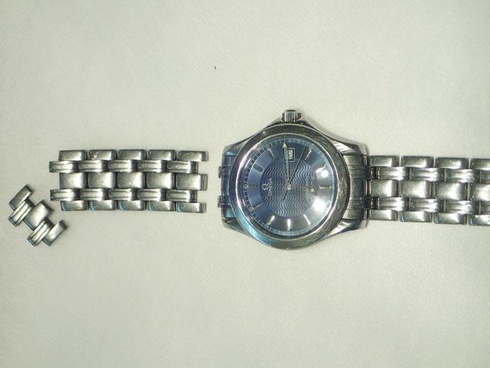 バラバラになってしまったオメガ腕時計のベルト修理できました