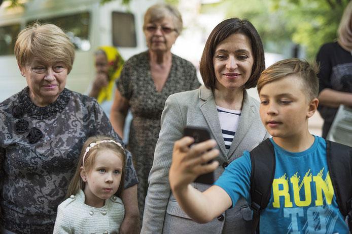 Laut Umfragen ist Maia Sandu die beliebteste Politikerin. Foto: Éric Vazzoler