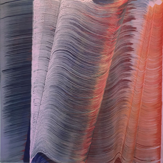 B3, 2016, Acryl/LW, 100 x 100 cm