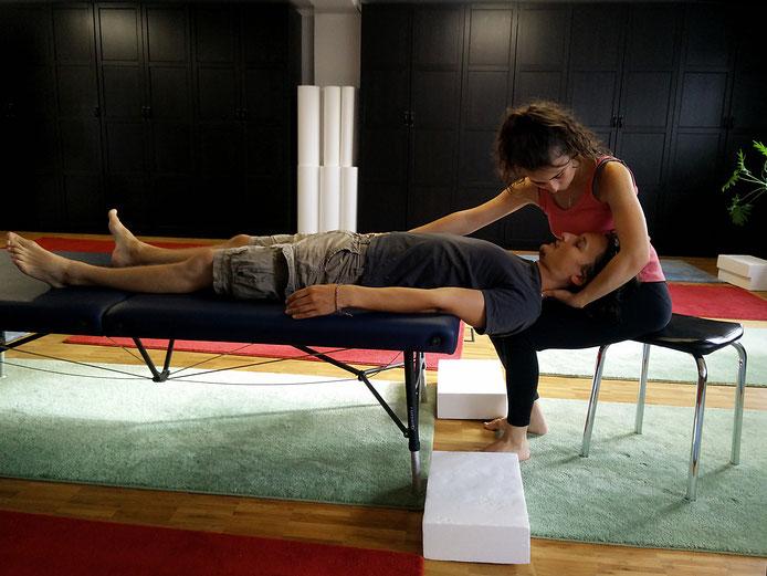 Ananda und Daniel Lerch-Holz beim NeuroScanBalance Training