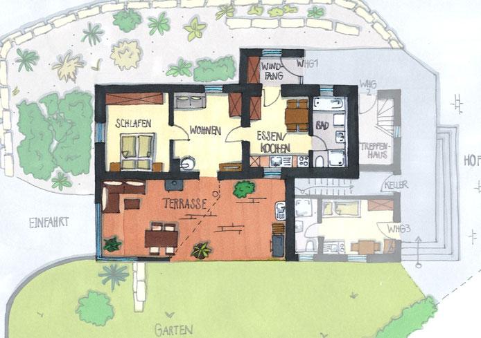 ferienwohnung eiche ferienwohnungen zum alten bahnhof. Black Bedroom Furniture Sets. Home Design Ideas