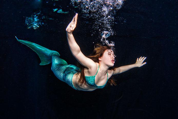 Unterwasserfotografie von Meerjungfrauen