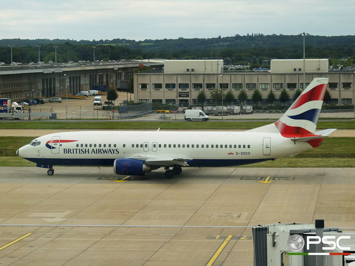 G-DOCO B737-436 25849/2381 British Airways @ London Gatwick Airport 31.08.2007 © Piti Spotter Club Verona