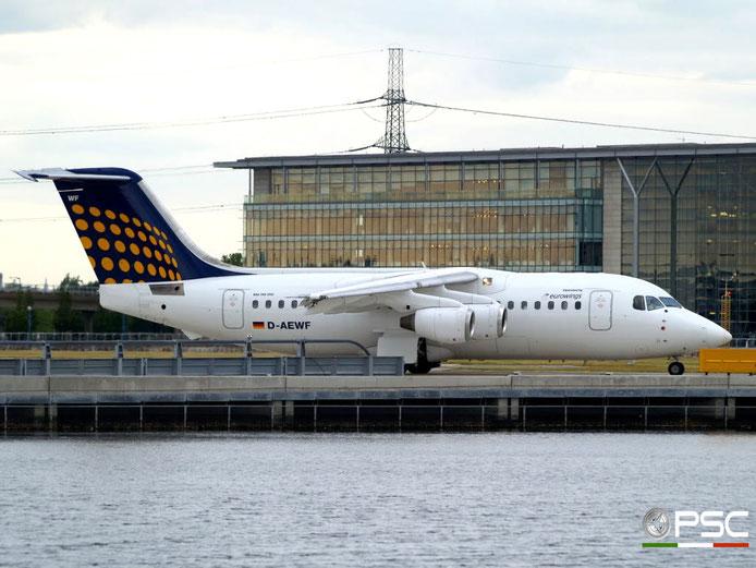 D-AEWF BAe146-200 E2184 Lufthansa Regional @ London City Airport 22.05.2009 © Piti Spotter Club Verona