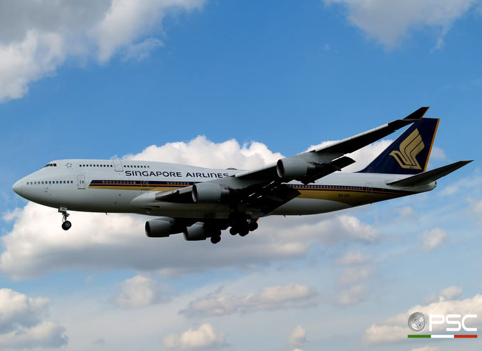 9V-SPI B747-412 28022/1082 Singapore Airlines @ London Heathrow Airport 15.04.2008 © Piti Spotter Club Verona