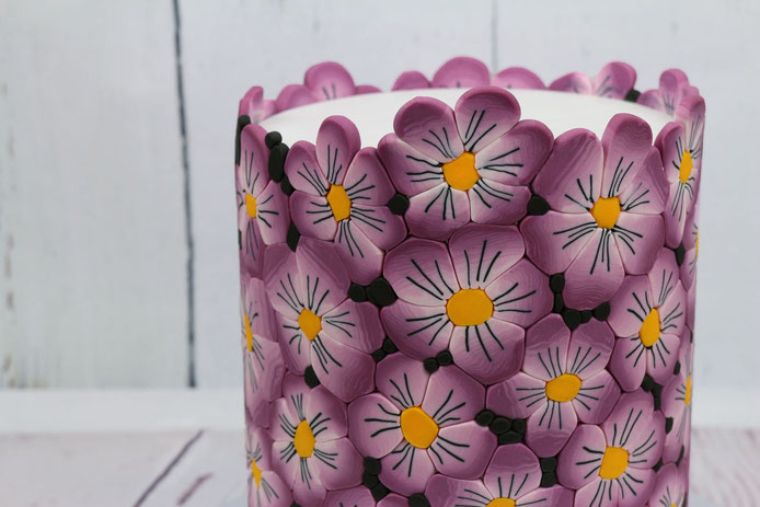 Blumen Fondantmuster Torte