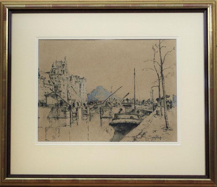 te_koop_aangeboden_een_kunstwerk_van_de_nederlandse_kunstschilder_willem_alexander Knip (1883-1967)_larense_school