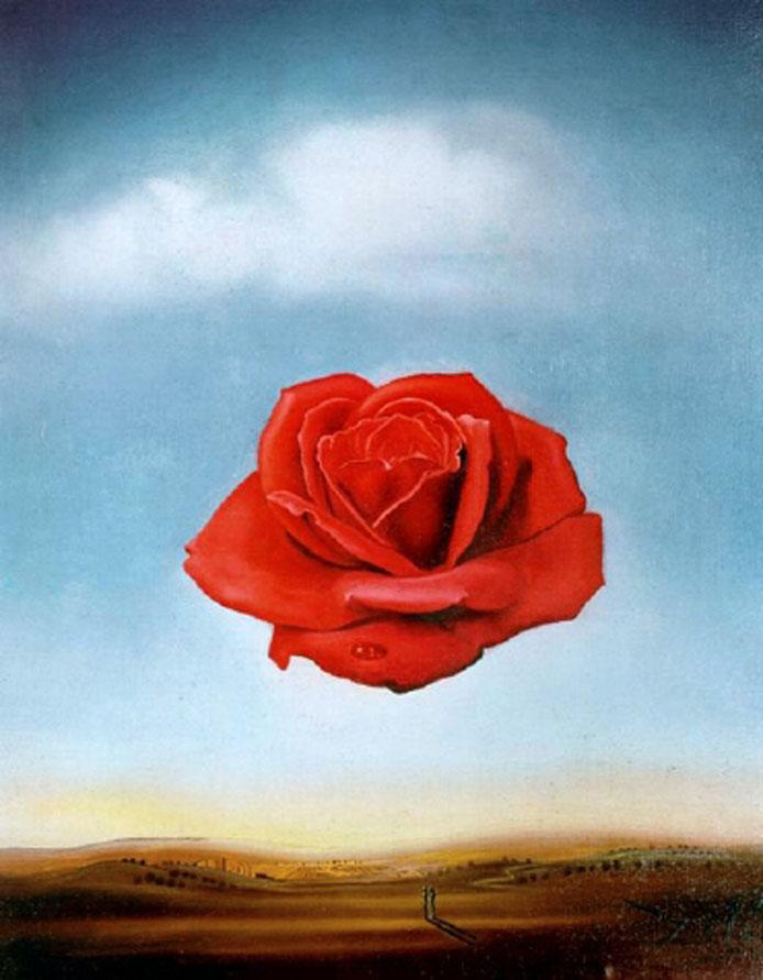 """Dalí, """"La rosa meditativa"""" (1958)"""