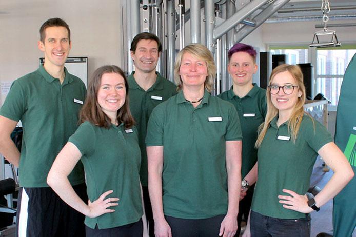Das Team von Lorenzen Training: Janine Rauchfuß, Klemens Karweit, Svetlana Matschkowski, Moritz Schaller, Annika Rosenkranz, Daniel Lorenzen
