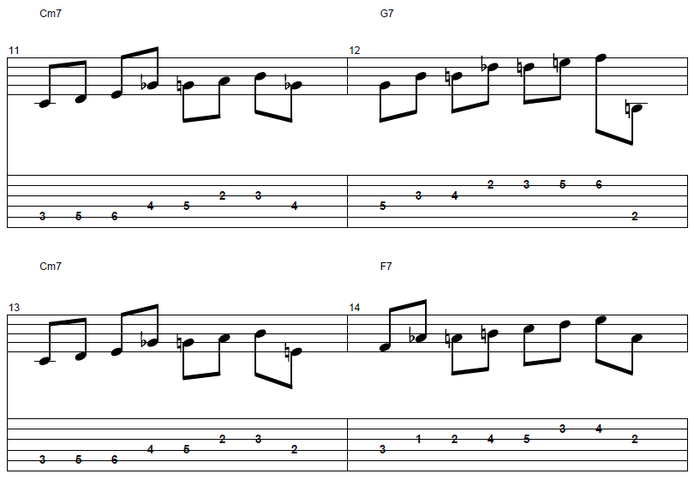 【初心者】ジャズギター入門:アプローチノート4