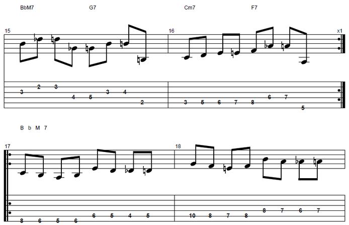 【初心者】ジャズギター入門:アプローチノート5