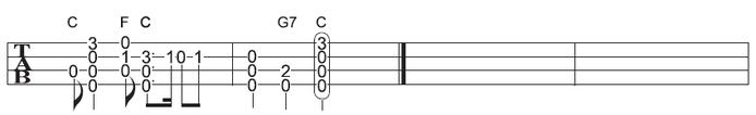 ソロウクレレで弾くクリスマスソング もろびとこぞりての楽譜・タブ譜(2/2)