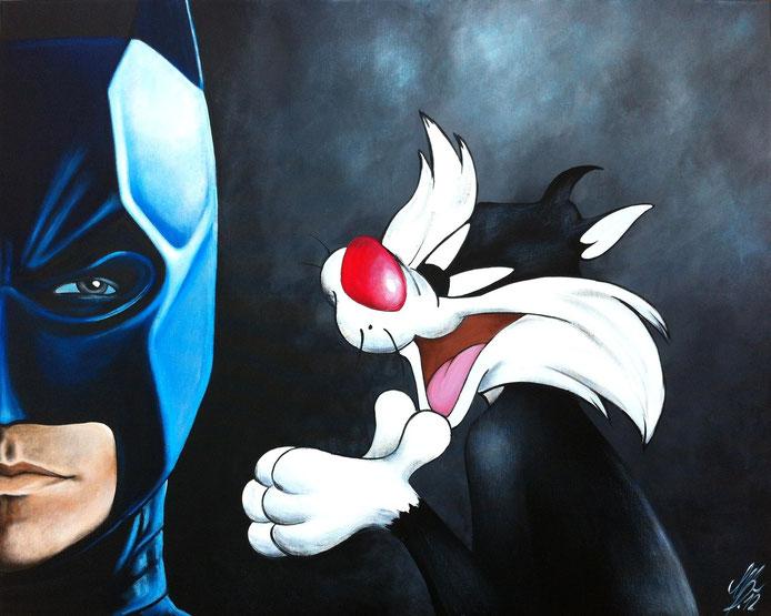 """""""Sylvester suprise"""", 2012, acrylic on canvas, 80x100"""