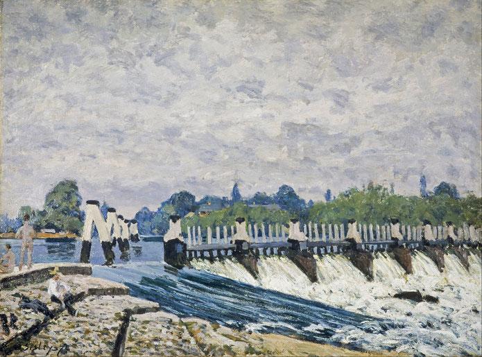Molesey Weir 1874年