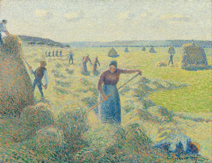 La Récolte des Foins, Eragny (1887)