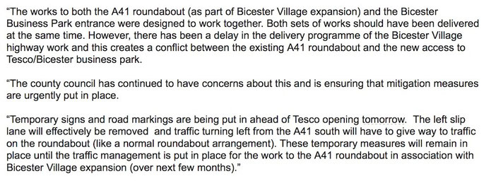 OUR NEWS - Bicester Traffic Action Group - #BicesterTag