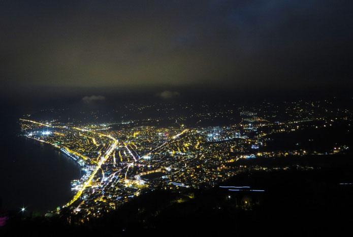 Ordu bei Nacht vom Boztepe.