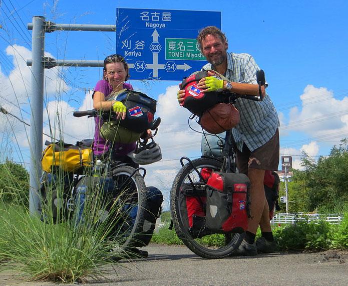 Kurz vor Nagoya haben wir 33'000 Velokilometer in den Beinen, 4'800 davon in Japan.