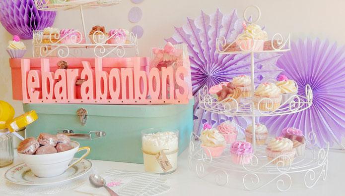 Bougies bio savons cupcakes bain gourmand