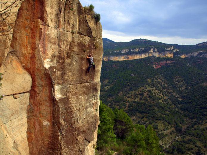 Escalade à Siurana : Espagne (Photo de moi prise par Niklaas)