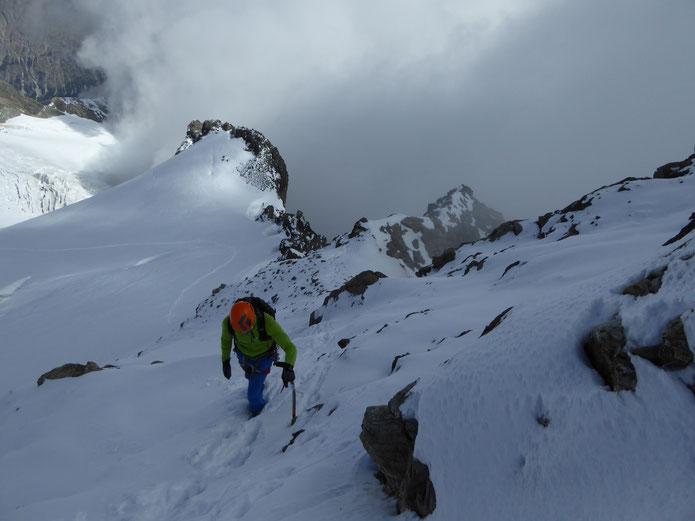 Dernier effort pour rejoindre le sommet