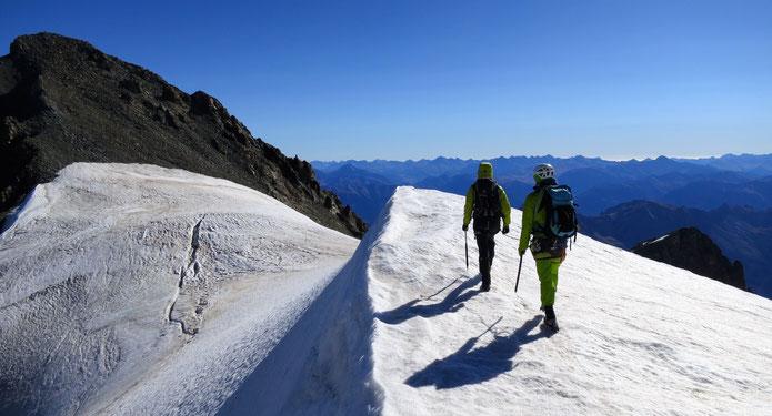 Sur le plateau entre les differents sommets du Pelvoux