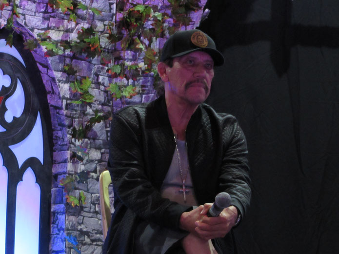 Danny Trejo during his panel at For the Love of Horror 2018 in Manchester (UK)