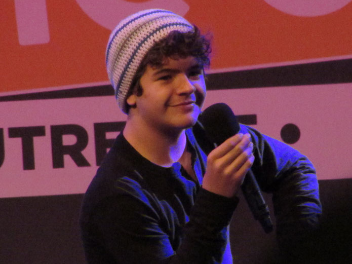 Gaten Matarazzo during his panel at Dutch Comic Con 2018