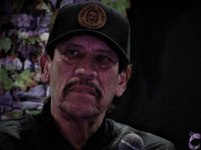Danny Trejo, during his Saturday Panel at For the Love of Horror 2018, Manchester