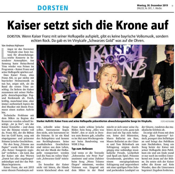Dorstener Zeitung, 30.12.2019 © Andreas Hofmann