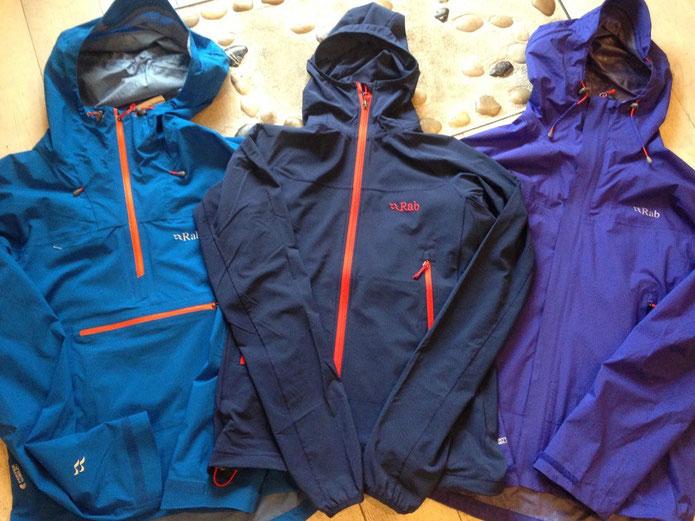 写真左より Spark Pull-On ¥28,080 Ventus Jacket ¥15,660 Fuse Jacket ¥23,760