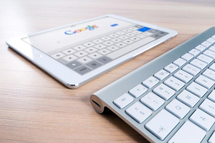 Tastatur und Tablet