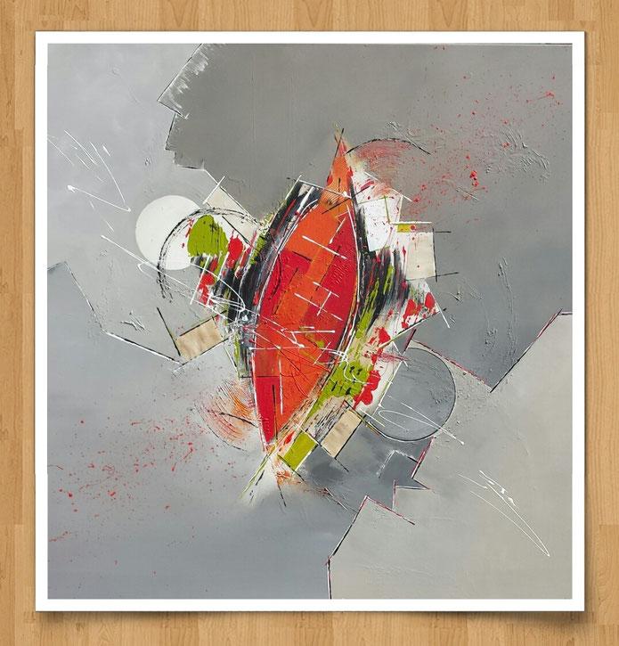 Farblabyrinth 120 x 120cm - Acryl auf Leinwand - verkauft -