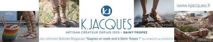 K.Jacques, artisans créateur de sandales à Saint-Tropez depuis 1933
