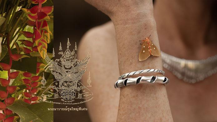 Bracelets argent massif fait main, artisanat ethnique
