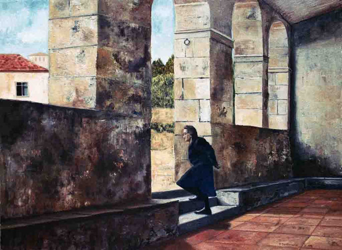 Vieja gallega 1999, óleo sobre lienzo 46X60 cm