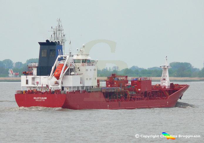 Chemie- / Öltanker KILSTRAUM, Elbe 08.05.2019