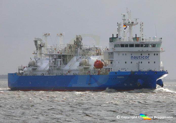 LNG Bunkerschiff KAIROS, Elbe 09.02.2019