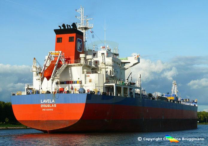 Chemie- / Öltanker LAVENA, Nord-Ostsee-Kanal, 25.09.2018