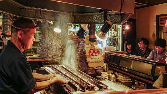 Yakitoris au grill, île de Shikoku
