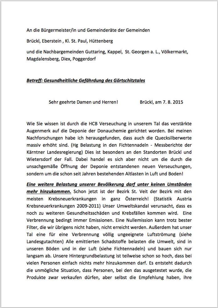 Offener Brief An Die Gemeinden Rettet Das Görtschitztal