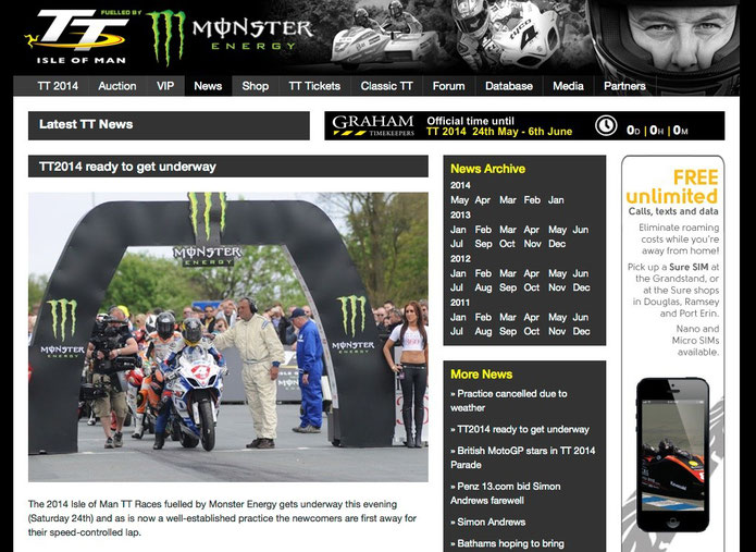 Website - TT Isle of Man