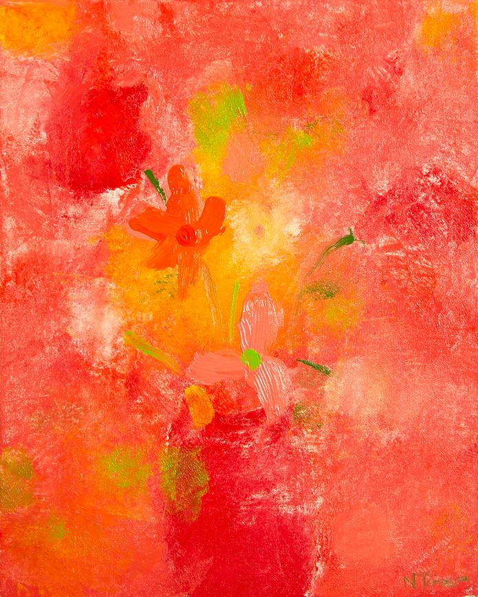 Le Bois De Boulogne - oil on canvas, 15 by 18 inches